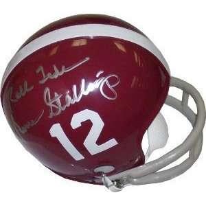 Gene Stallings Signed Alabama Crimson Tide Mini Helmet