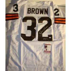 Jim Brown Signed Jersey   with HOF 71 Inscription