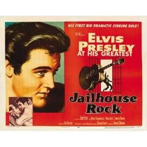 Rock Poster Half Sheet 22x28 Elvis Presley Judy Tyler Vaughn Taylor