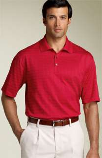 Tiger Woods Golf Apparel Stripe Drop Needle Polo