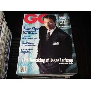 GQ Magazine (ANDY GARCIA , JESSE JACKSON , Lena Olin , Fragrance