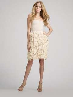 Haute Hippie   Strapless Ruffle Dress