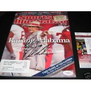 Nick Saban Bama 2007 Jsa/coa Signed Sports Illustrated
