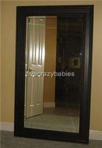 Extra Large Classic Black Wall Mirror FULL LENGTH Leaner Dressing Dark