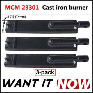 Jenn Air Outdoors Cast Iron Gas Grill Burner 23301 3pk