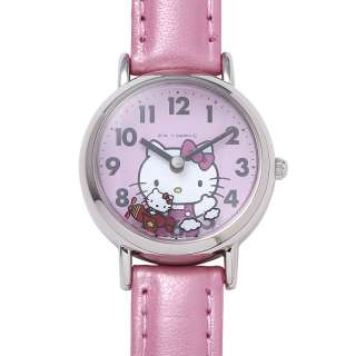 Hello Kitty Wrist Watch Sanrio Pink Airplane Girls Womens Cute Lovely