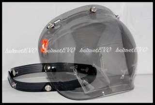 VESPA MOTORCYCLE Open face helmet BUBBLE Shield Visor