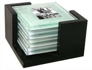 Live, Love, Laugh Picture Frame GLASS COASTERS SET OF 4