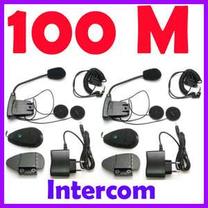 2x100M 2 way talking Bluetooth Motorcycle Motorbike helmet Intercom