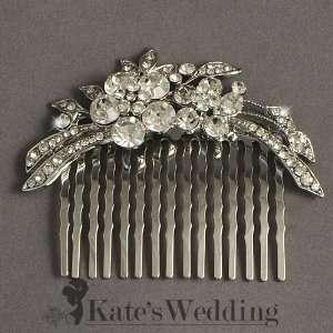 Bridal Wedding Side Comb Flower Rhinestone Crystal Bridal Hair