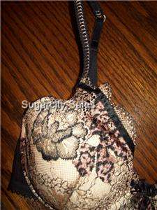NWT VIA DEL AMORE LACE COSMO JUNGLE BRA F82BV303 36B