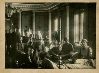 Nurses patients military hosptial antique medical photo