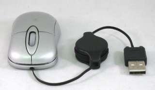 Mini Mouse SILVER Notebook Laptop PC 800dpi USB Optical