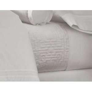 Martha Stewart Trousseau Hemstitch Full/Queen Coverlet White