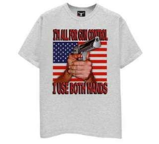 Gun Control   Both Hands / Grey Tee / Sizes   S,M,L,XL