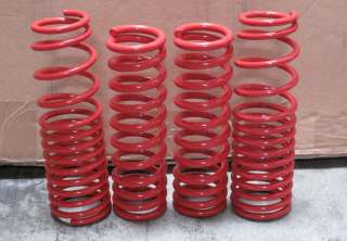 HONDA CRX 88 91 SI HATCHBACK JDM LOWERING SPRINGS RED