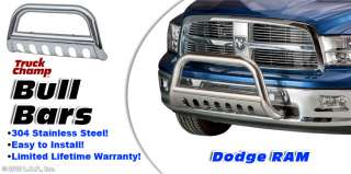 Stainless Push Grill Guard 2009 2010 DODGE RAM 1500 w/Tow Hooks