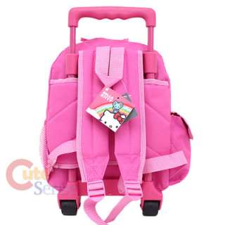 Sanrio Hello Kitty Small Rolling Backpack School Roller Bag Pink Bows