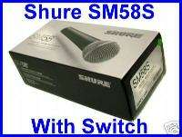 SHURE Brand new in box model SM58S Microphone w switch