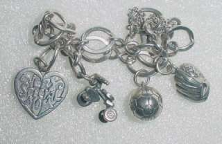 JAMES AVERY SILVER CHARM BRACELET WITH 4 CHARMS  LB1655