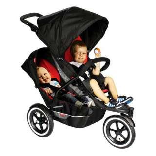 PHIL & TEDS Explorer Baby Stroller w/Double Kit   Black