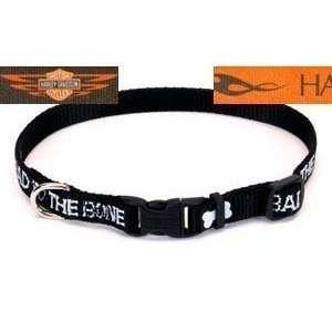 Harley Davidson ORANGE BLOCK Dog Collar 3/8x8 12