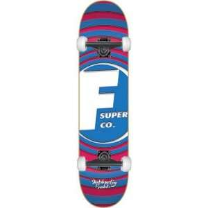 Foundation Super Rings Complete Skateboard   7.87 Blue w