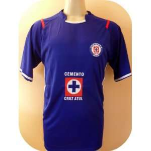 CRUZ AZUL MEXICO HOME SOCCER JERSEY SIZE LARGE.NEW: Sports