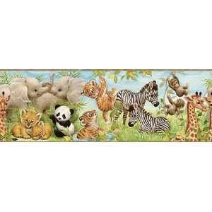 Brown Jungle Pals Wallpaper Border: Baby